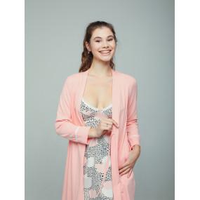 """Халат 25314 """"La Rose"""" розовый - для беременных и кормящих Мамин"""