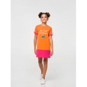"""Платье 120322 цитрус """"Розовый цитрус"""""""