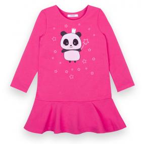 Платье ПАНДА двухнитка-стрейч (без начёса) розовый