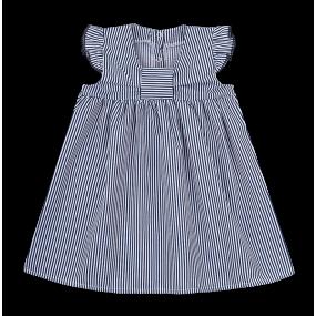 Платье PL-20-14-2 синяя полоска (поплин)