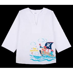 Рубашка ПИРАТ пляжная (миткаль)