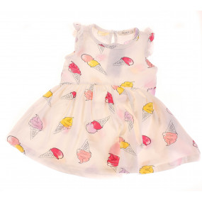 Платье 13510 малиновые мороженки Breeze (кулир)