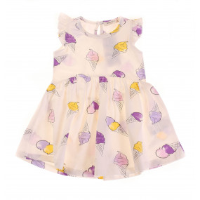 Платье 13510 лиловые мороженки Breeze (кулир)