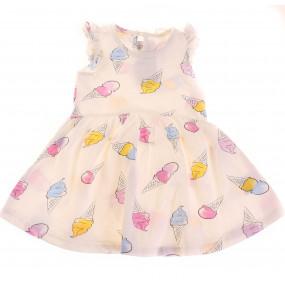 Платье 13510 розовые мороженки Breeze (кулир)