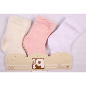 Набор 68090 ажурных носочков для новорожденной девочки (3 шт.)