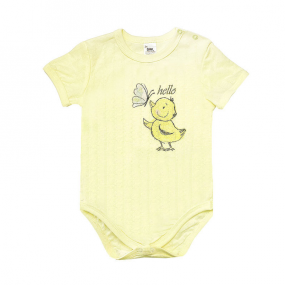 Боди 102688 жёлтый утёнок (ажурный хлопок)