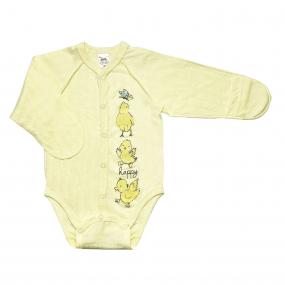 Боди 102689 желтый утята (ажурный хлопок)