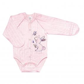 Боди 102689 розовый зайка (ажурный хлопок)