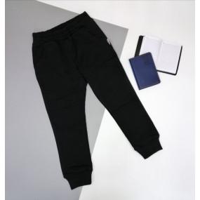 Штаны ШТ-318 чёрный без принта, двухнитка