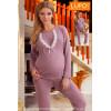 Lupo Line 249 пижама для беременных и в роддом, фиалковый