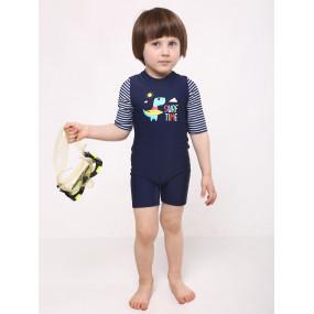 """Ромпер """"Dino Blue"""" комбинезон-купальник для мальчика"""