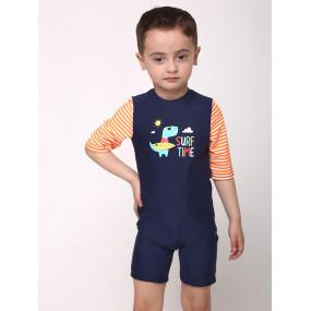 """Ромпер """"Dino Orange"""" комбинезон-купальник для мальчика"""