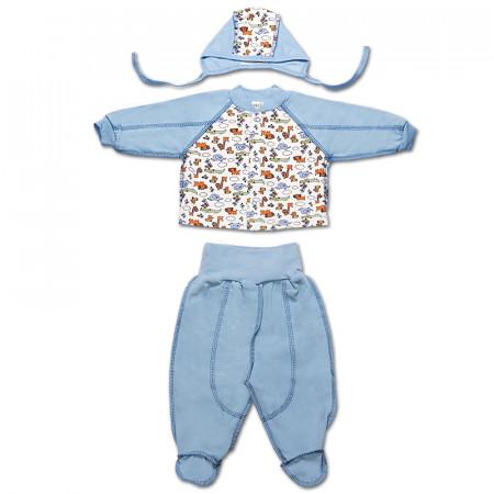 Комплект на новорожденного из байки (КС324)