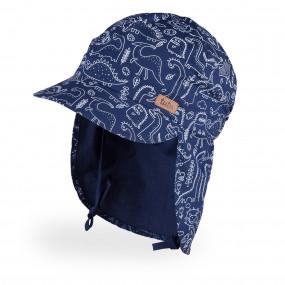 Панама 3-005470 дино на синем (с защитой шеи) UV30+