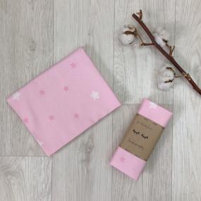 Пеленка Звёзды фланель (100х80 см) на розовом