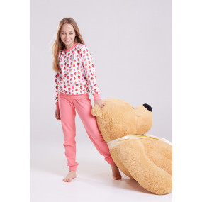 Пижама Клубника (100% хлопок) для девочек