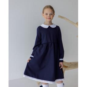 Платье 8106 синее ШКОЛА