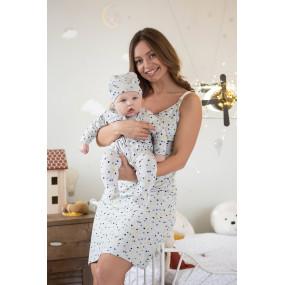 """Сорочка 24124 """"Baby"""" - для беременных и кормящих (серый в"""