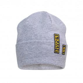 Деми шапка 21732 серый (двойная в рубчик)