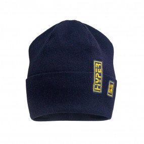 Деми шапка 21732 синий (двойная в рубчик)