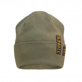 Деми шапка 21732 хаки (двойная в рубчик)