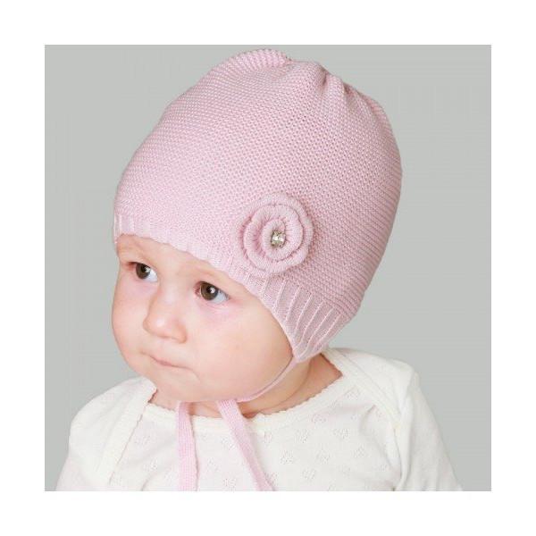 Шапка Matrena роза демисезонная (для новорожденных)