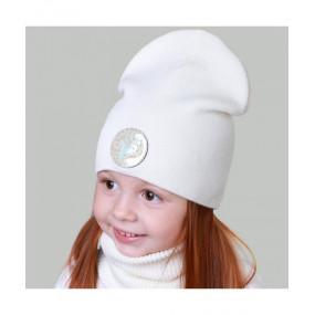 Комплект Паула молоко (деми) - шапка и бафф