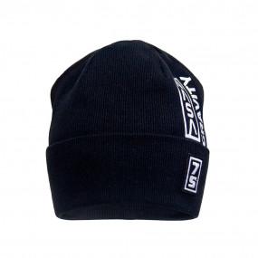 Деми шапка 21738 чёрный (двойная в рубчик)