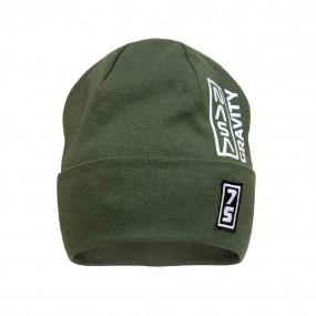 Деми шапка 21738 хаки (двойной трикотаж)