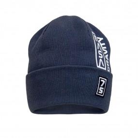 Деми шапка 21738 графит (двойная в рубчик)