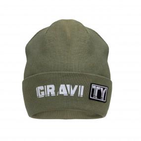 Деми шапка 21737 олива (двойная в рубчик)