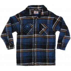 Рубашка тёплая 17132 т.синий (фланель) A-Yugi