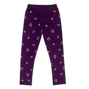 Брюки 106/1 фиолет - плюш (трикотаж на меху) зима