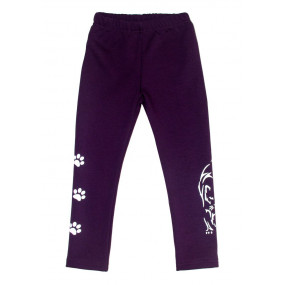 Брюки 108 фиолет - плюш (трикотаж на меху) зима