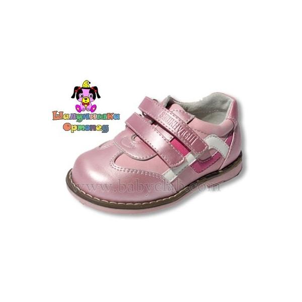Туфли для девочки, розовый перламутр, ТМ Шалунишка Ортопед