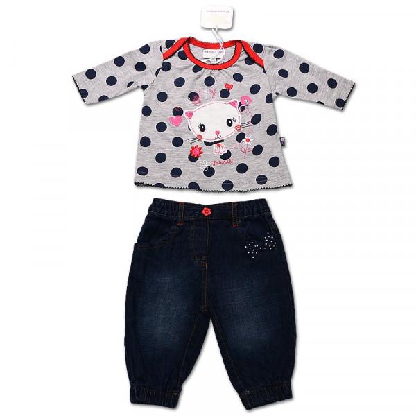 Комплект для девочки 'Горошки Babaluno' с джинсами